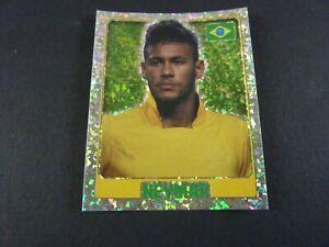 Neymar Foil - Brazil - Topps England 2014 Football Sticker - Near Mint!
