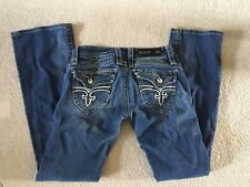 Women's Rock Revival Pants Gwen Boot Jeans Denim Distressed Size 26