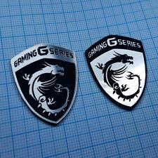 2 x MSI Gaming Series Metallic Badge Sticker Set - 2 pieces