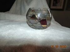 Partylite Mosaic Glass candle holder Tealight Bowl stained Glass look
