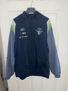 Authentics Nrl Rugby League Jacket M Medium Canberra Raiders Hooded Coat ISC Aus