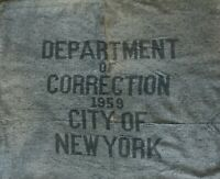 Department of Correction Prison Blanket 1959 City of New York Gray Prisoner