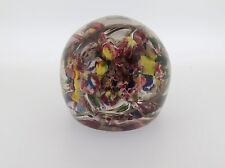 Vintage Bohemian Multi-Colored Devil's Fire Paperweight - early 20th Century GL