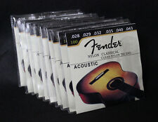 10 Sets 100 Classical Clear Nylon Tie End 1st-6th Classical Guitar Strings