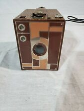 Vintage Art Deco Kodak Beau Brownie No. 2 Box Camera in Brown/Beige Colors