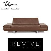 Willi Schillig Taboo Leder Sofa Braun Dreisitzer Couch #12991