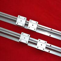 2PCS Support Linear Rails SBR12-600MM+4 Slide Bearing Blocks for CNC