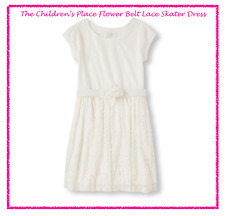 *NEW* THE CHILDREN'S PLACE GIRLS SIZE XL 14 SPRING EASTER PARTY IVORY LACE DRESS