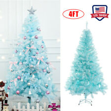 US! 4Ft Blue Artificial Christmas Tree Holiday Decoration Hotel Home Decor