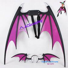 Vampire Darkstalker Morrigan Aensland Wings and Headband cosplay prop pvc made