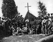 New 8x10 Civil War Photo: 69th New York State Militia Mass at Fort Corcoran