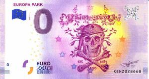 ALLEMAGNE Rust, Europa Park 7, Piraten in Batavia, 2020, Billet Euro Souvenir