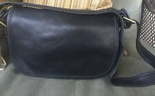 COACH Black Leather  LEGACY Cross Body Messenger Tote Bag Purse 9951 Good Used