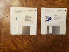 Vintage Hewlett Packard DeskWriter C Install and Fonts Disks – Macintosh 6.0.5