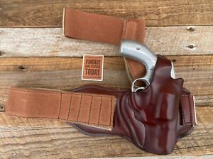 Don Hume Brown Leather Ankle Holster For Small S&W Colt Revolver 640 Centennial