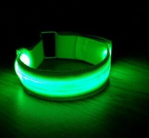 Bright LED Arm Bands for Running * Cycling * Dog Walkers * Child Safety **