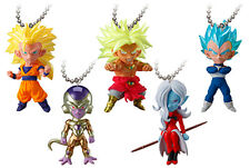 Dragon Ball Deformed 5pc Set Figure Keychain Ring Gashapon Capsule UDM BURST 24