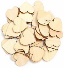 20mm Wooden Hearts 50 pieces Wedding Decoration Craft Scrapbooking