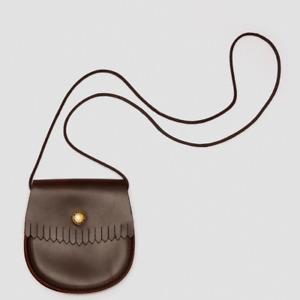 Ladies Dr Martens Brown Genuine Leather Tassel Bag Mini Coin Purse - Brand New