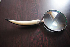 New Brass Magnifier Glass Bone Handle Beautiful Hand Held Magnifying Glass Gift