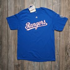 NWT Ivan Rodriguez #7 Texas Rangers Majestic Cooperstown Collection T-Shirt Sz L