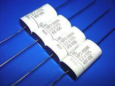 4pcs 2.2uf 400v EC MP2 Axial Metallized Polypro Film Capacitors NEW