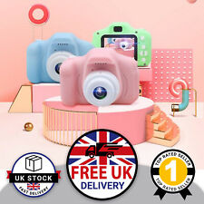 Pink Kids Digital Camera HD Video Cam Child Children Birthday Gift+32GB SD Card