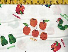 The Very Hungry Caterpillar Cotton quilt fabric by Andover BTY Colorful Fruit