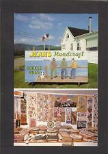 POSTCARD:  JEAN'S HANDCRAFT - HOOKED RUGS & KNITTING - PETIT ETANG, NOVA SCOTIA