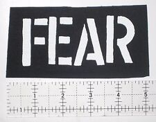 FEAR Patch - Punk Bad Religion Agnostic Front Circle Jerks Dead kennedys Misfits
