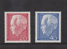 WEST GERMANY MNH STAMP DEUTSCHE BUNDESPOST 1964 PRESIDENT LUBKA SG 1342 -1343