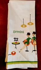 SHAG Josh Agle Gemini Zodiac  Girls Bar Towel Kitchen Towel Tea Towel New
