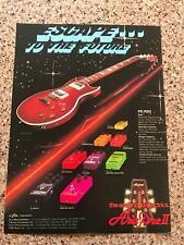 1982 VINTAGE 8X11 PRINT Ad FOR ARIA PRO II GUITARS PE-R80 ESCAPE TO THE FUTURE