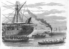 """MEXIQUE MEXICO VERA-CRUZ """" BATAILLON NEGRE EGYPTIEN """" GRAVURE ILLUSTRATION 1863"""