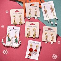 Women Christmas XMAS Earrings Drop Dangle Earrings New Year Fashion Jewelry