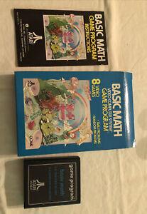Atari 2600 7800 - 61 BASIC MATH - Complete w/ manual in box - CIB -