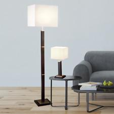 Classique Lampe sur Pied Luminaire Floorlampe H:147cm Abat-Jour Souple Blanc