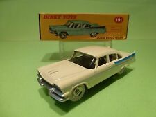 DINKY TOYS ATLAS 191 DODGE ROYAL SEDAN - CREAM 1:43 - EXCELLENT IN BOX