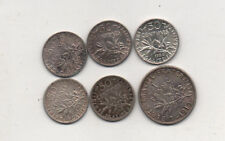 France 8 silver coins  1871k 2 franc