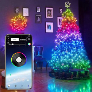 10M 100 LEDs Christmas Tree Decoration Lights Customized Smart Bluetooth LED