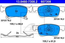 Bremsbelagsatz, Scheibenbremse für Bremsanlage Vorderachse ATE 13.0460-7308.2