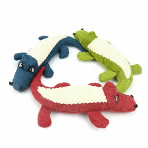 Crocodile Dog Toy with squeaker