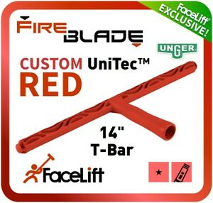 """FaceLift FireBLADE RED T-Bar 14"""" Window Cleaning Washer Only Unger Exclusive"""