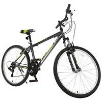 "26"" Mountain Bike 18 Speed Bicycle Shimano Hybrid School Sports Black Green"