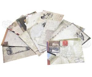 12stk raftpapier Mini Briefumschläge im Vintage Look Geschenk Hochzeit