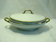 Bernardaud & Co. Limoges Lidded Covered Casserole White & Gold
