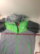 Nike Men's Outerwear Collard Wind Breaker Jacket Front Zip Up Hoodie Size S