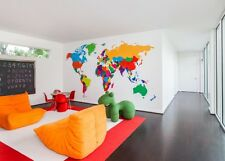 Global Maps Over sized wall map PERSPEX World Map