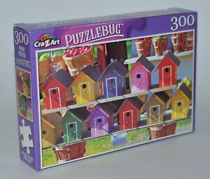 Crazart Puzzlebug Colorido Pájaro Casas Puzle Rompecabezas 300 Piezas