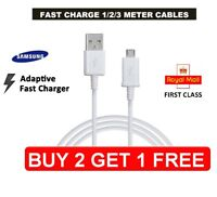 Samsung 1M 2M 3M Fast Charger Micro USB Data Cable Lead For S4 S5 S6 S7 S8 S9